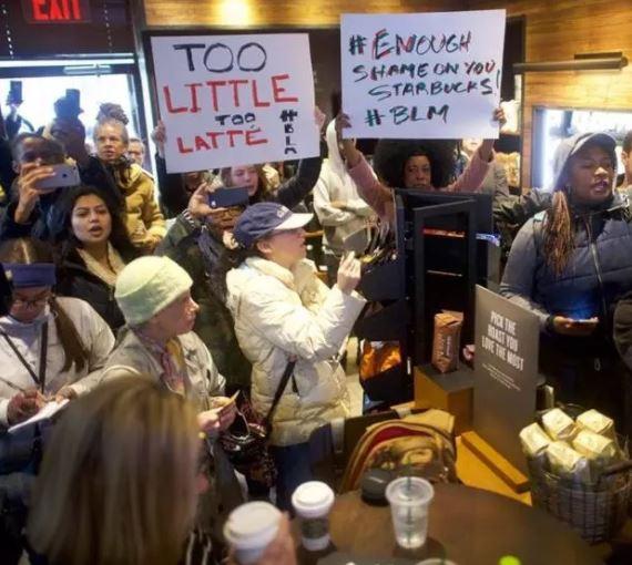 Starbucks demonstration Philadelphia