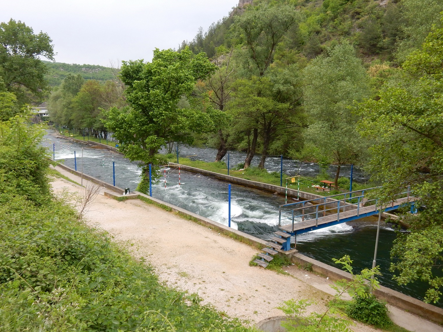 Skopje Canoeing track Matka Canyon
