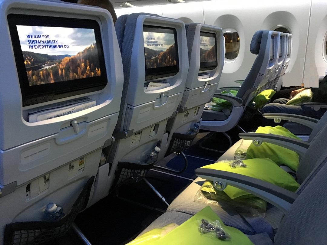 Finnair kabin interior belső tér