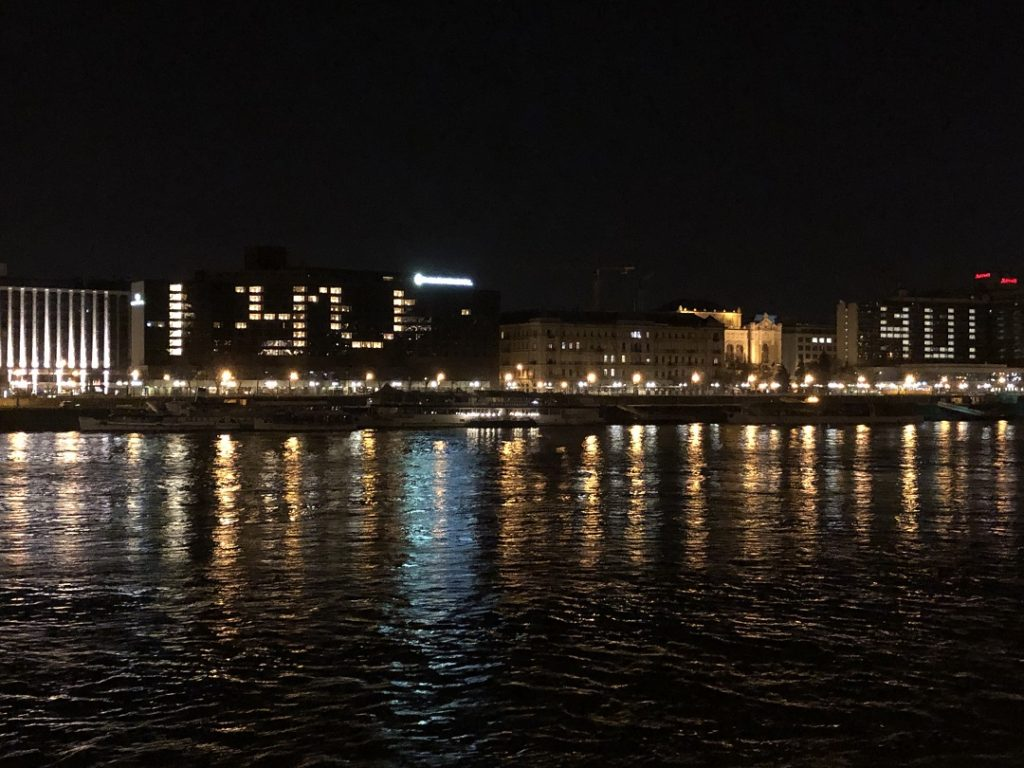 InterContinental hotel Budapest éjszakai kivilágítás