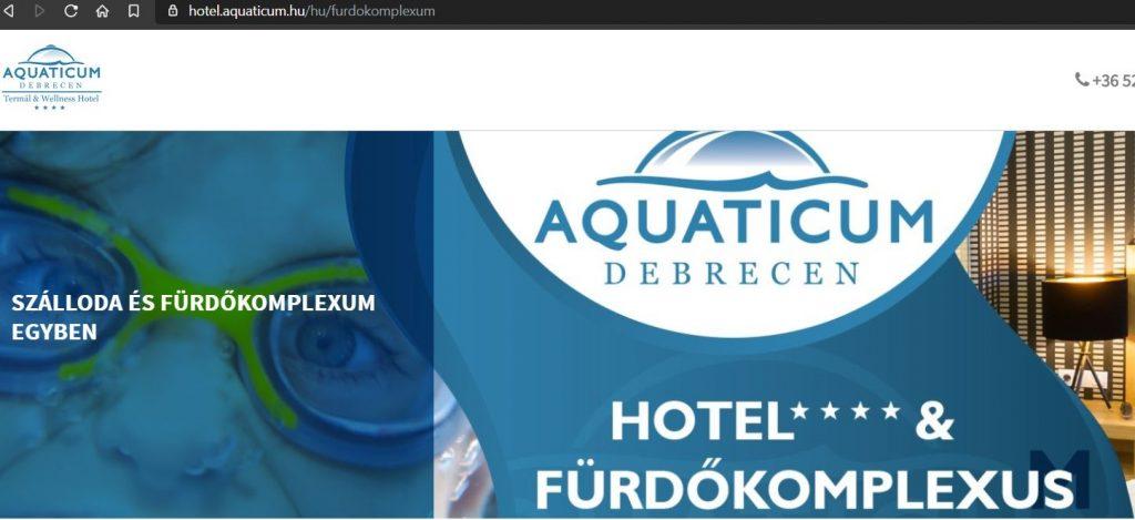 fürdőkomplexus Aquaticum Debrecen spa strand fürdőkomplexum