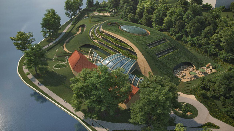 Avalon hotel Tata Öreg-tó látványterv új zöld