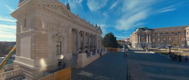 Budai Vár verseny drónvideó nemzeti Hauszmann Program