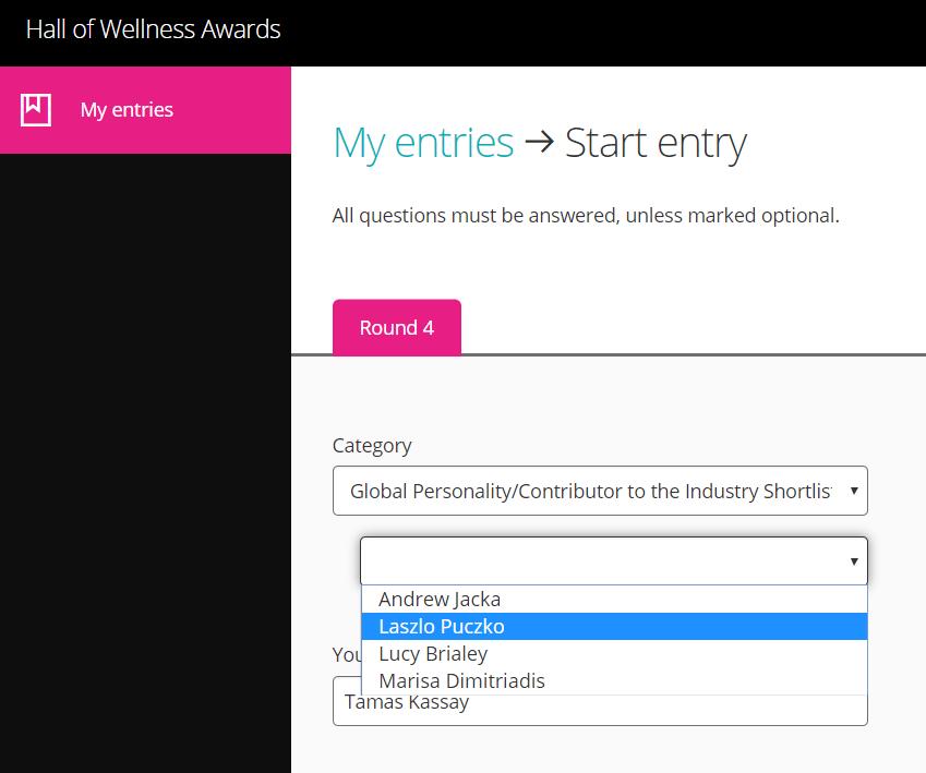 Puczkó László Global Wellness Awards szavazás new normal pandémia spa