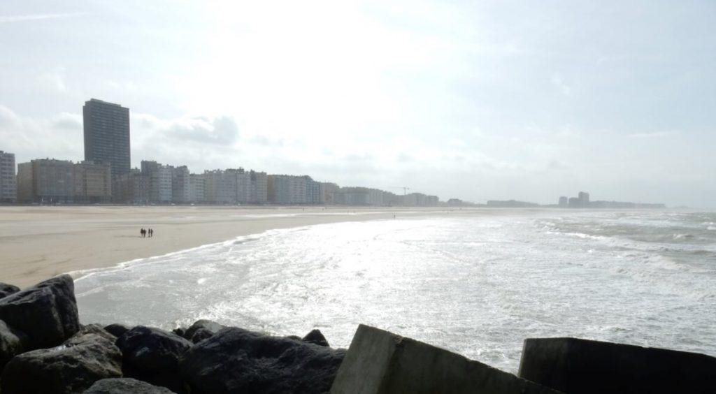 Oostebde tengerpart Belgium