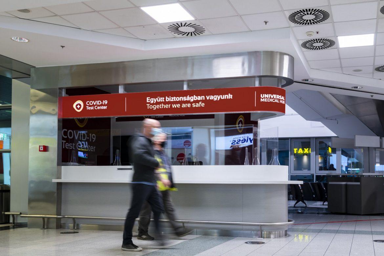 koronavírus tesztközpont Ferihegy Liszt Ferenc Nemzetközi Repülőtér Budapest