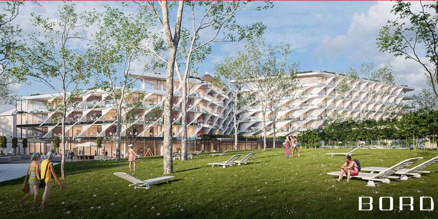 Debrecen 4 csillagos szálloda épül látványterv Bord studio Aquaticum Hotel