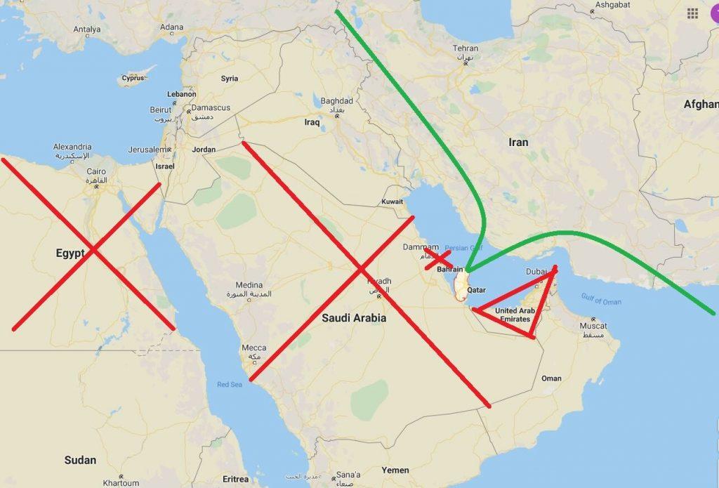 Qatar Airways légtérzár bíróság diplomáciai blokád légtér Szaúd-Arábia