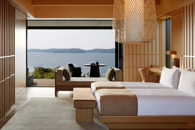 Amanemu wellness hotel onsen japán menzeti park