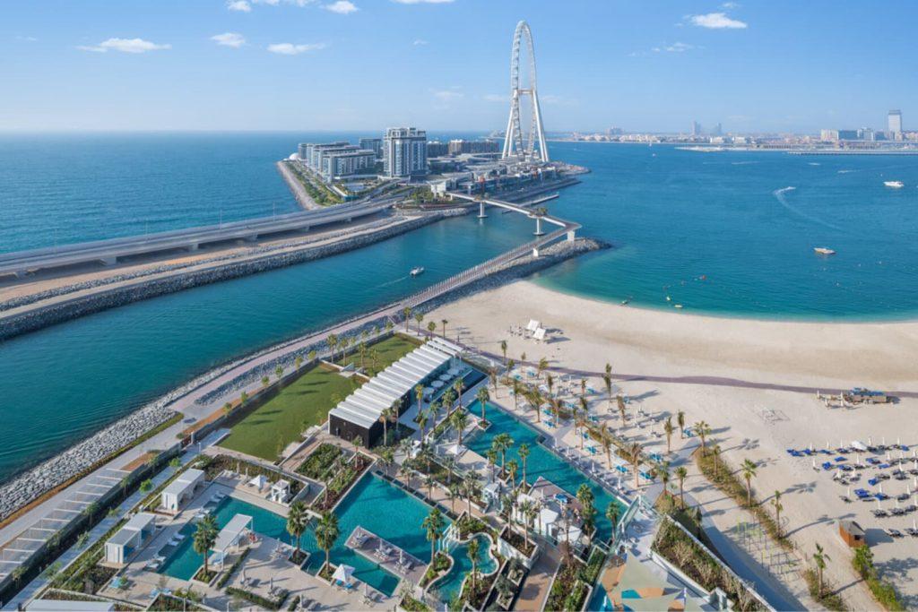 Address beach resort Dubaj Guinness rekokrd legmagasabb tetőmedence panoráma medence kilátás