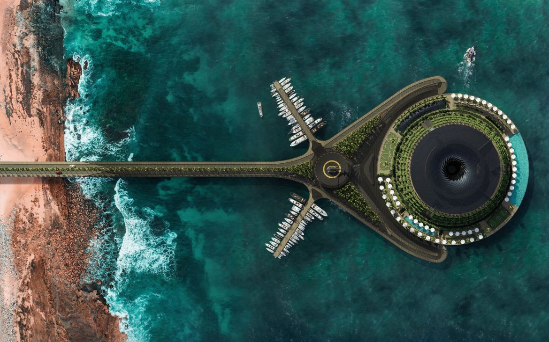 forgó lebegő zero waste hotel Katar Hayriatak zöld szálloda hulladékmentes