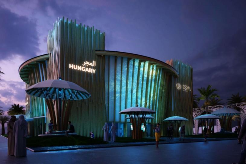 Dubaji világkiállítás magyar pavilon aqua roots of hungary