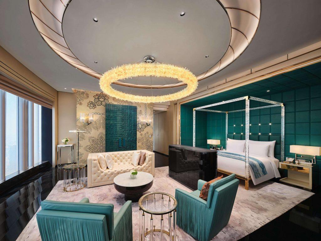 J Hotel Shanghai világ legmagasabb szállodája ágy