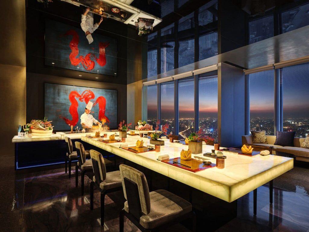 J Hotel Shanghai világ legmagasabb szállodája étterem