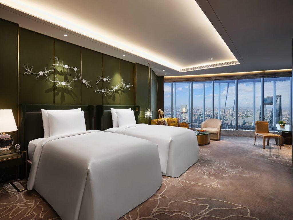 J Hotel Shanghai világ legmagasabb szállodája twin szoba