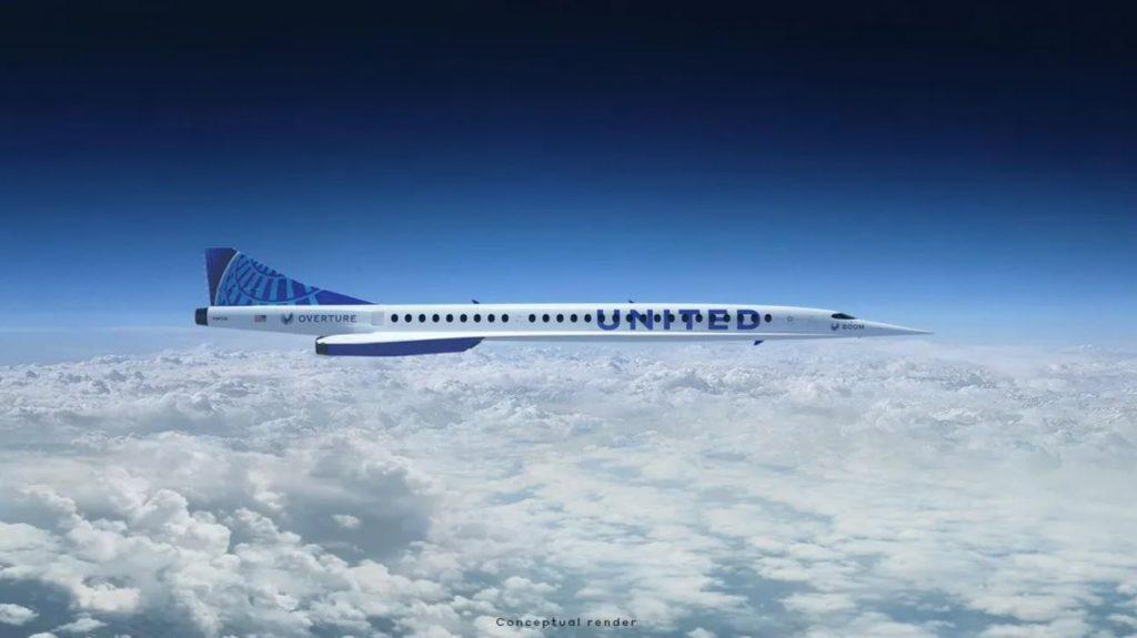 Szuperszonikus repülő Boom Overture United Airlines vásárlás