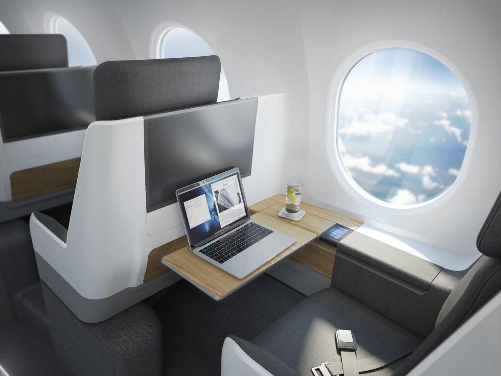 Szuperszonikus repülő Boom Overture United Airlines ülés business class