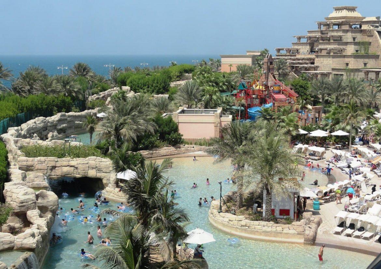Emirates ingyen csúszdapark aquaventure Dubaj aquapark