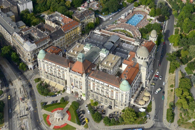 Gellért Szálló nyitás Danubius Hotel Gellért drón fotó