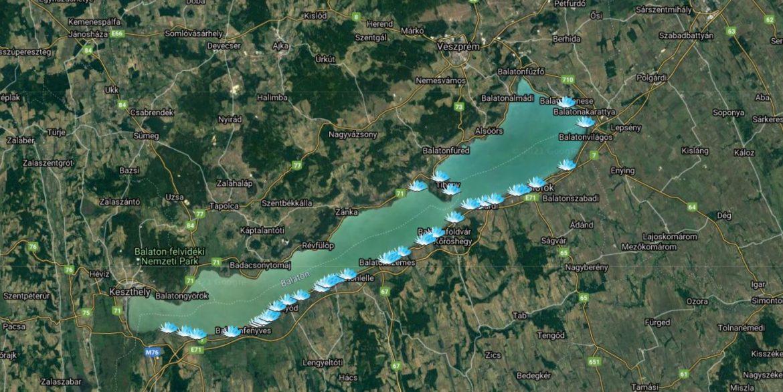 ingyenes szabadstrandok listája térkép Balaton strand