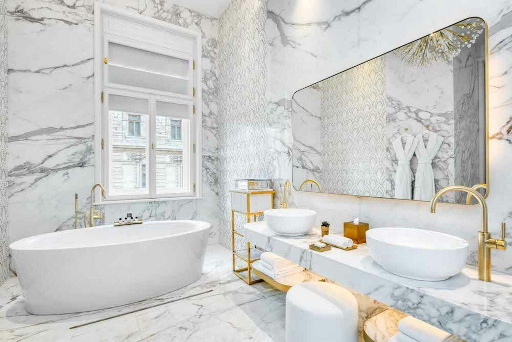 Matild Palace Budapest hotel luxus szálloda fürdőszoba