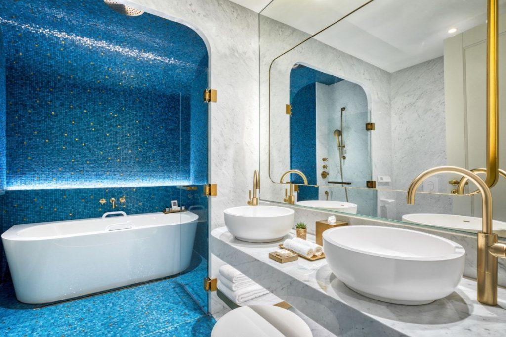 Matild Palace Budapest hotel luxus fürdőszoba