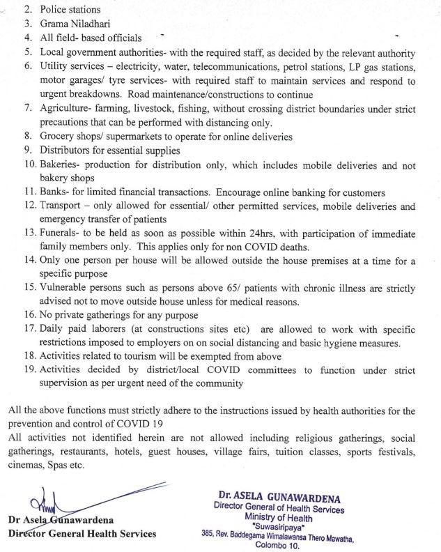 Sri Lanka kijárási tilalom 2021 augusztus 20
