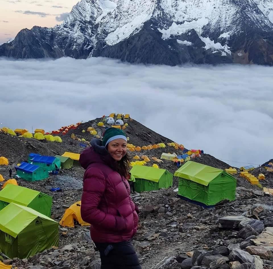 Female Yeti Nepál Manaslu expedíció oxigén nélkül 8000 méter felett