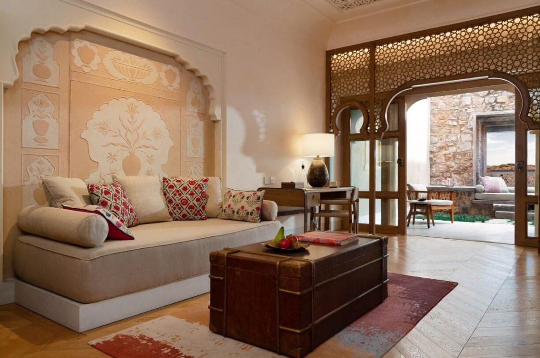 Six Senses spa Fort Barwara India erőd hotel szállás szoba wellness