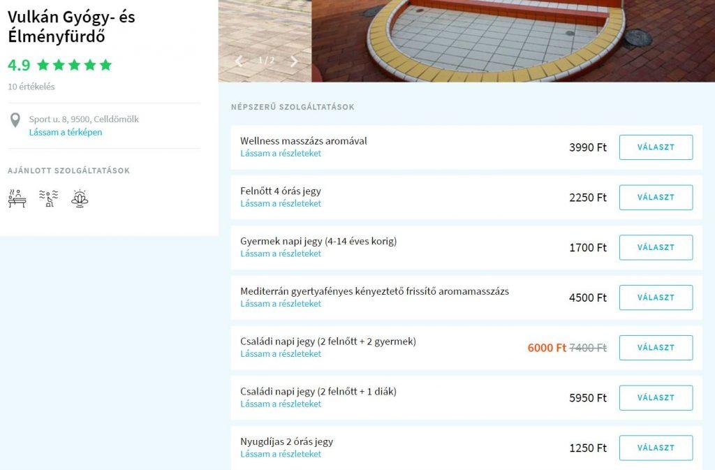 Spalneo online jegyvásárlás termálfürdő belépő fürdő ajándékutalvány